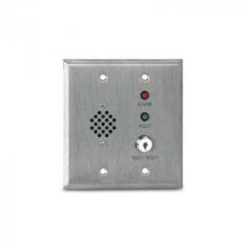 MS-RH/KA/P/R Còi báo động từ xa, đèn LED báo động (đỏ), đèn LED trạng thái (xanh) và công tắc kiểm tra / reset bằng chìa khóa