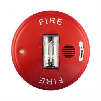 HCC24CR - Còi kết hợp đèn nháy cảnh báo 24VDC, nhiều mức cài đặt, gắn trần, màu đỏ