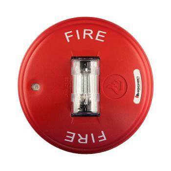 HCS24CR - Đèn chớp cảnh báo 24VDC, nhiều mức cài đặt, gắn trần, màu đỏ