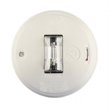 HCS24PCW - Đèn chớp cảnh báo 24VDC, nhiều mức cài đặt, trơn không chữ cái, gắn trần, màu trắng