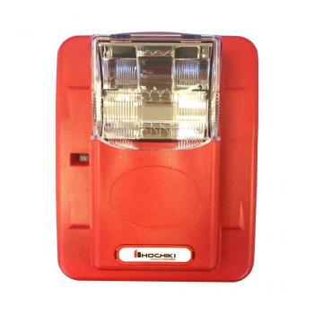 HES3-24PWR - Đèn chớp cảnh báo 24VDC, nhiều mức cài đặt, trơn không chữ cái, treo tường, màu đỏ