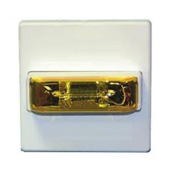 Đèn chớp cảnh báo 24VDC, mặt kính màu hổ phách, có thể lựa chọn cài đặt, gắn trần/treo tường