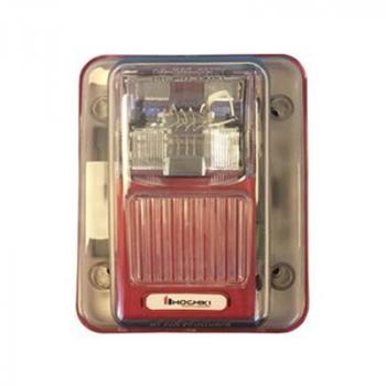 WHEC24-75WR - Còi/đèn chớp kết hợp 24VDC chống thời tiết, 75DB, treo tường, màu đỏ