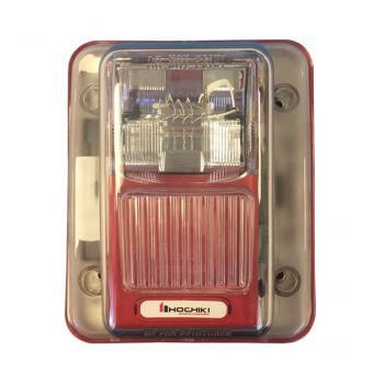 WHES24-75WR - Đèn chớp 24VDC chống thời tiết, 75CD, treo tường, màu đỏ