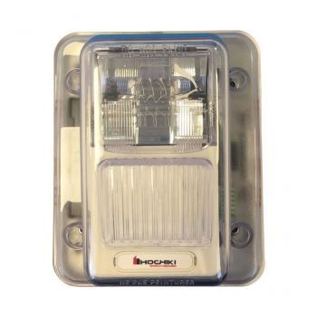 WHES24-75WW - Đèn chớp 24VDC chống thời tiết, 75CD, treo tường, màu trắng