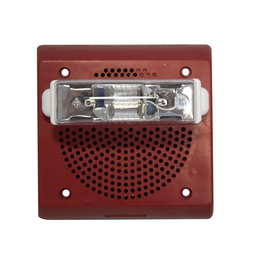 Loa/Đèn chớp kết hợp 24VDC chống thời tiết, 75CD, treo tường, màu đỏ ( cần có hộp backbox IOB )