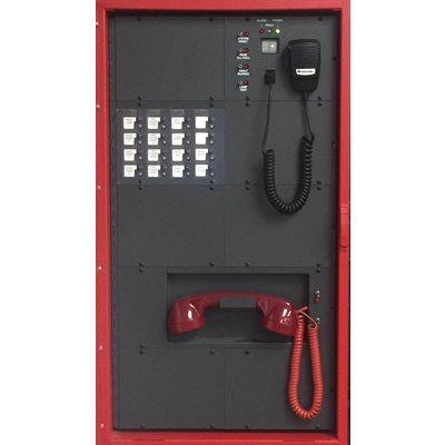 EVAX 100 Hệ thống xác nhận cảnh báo cháy bằng giọng nói 100W, 4 kênh loa phát, 120VAC, màu đỏ-gồm bộ lặp nhắc lại bằng tin nhắn, 1 tay nghe gọi, nguồn và bộ sạc pin