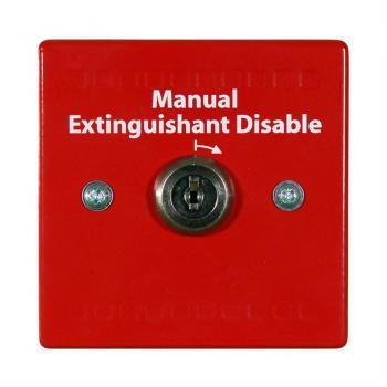 HCVR-DS Công tắc ngắt kết nối mạch xả khí chữa cháy, dạng chìa khóa, tương thích HCVR-3. Red. (dùng khi bảo trì hệ thống)